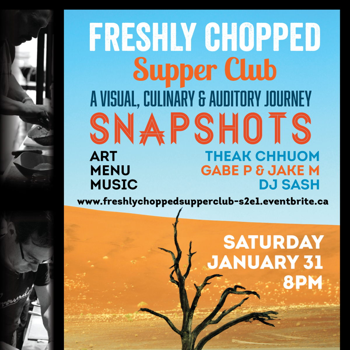 Freshly Chopped Supper Club, First of 2015! - Universe