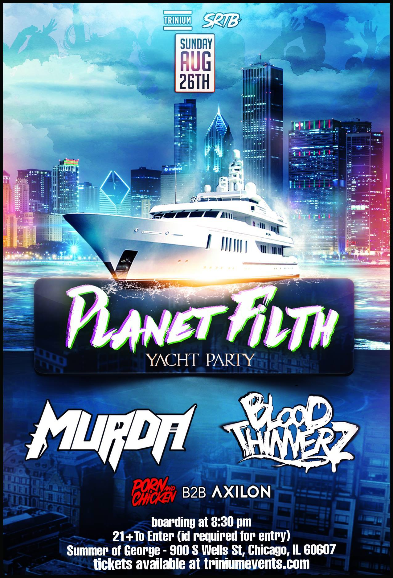Planet Filth Yacht Party ft MURDA & BLOODTHINNERZ - Events