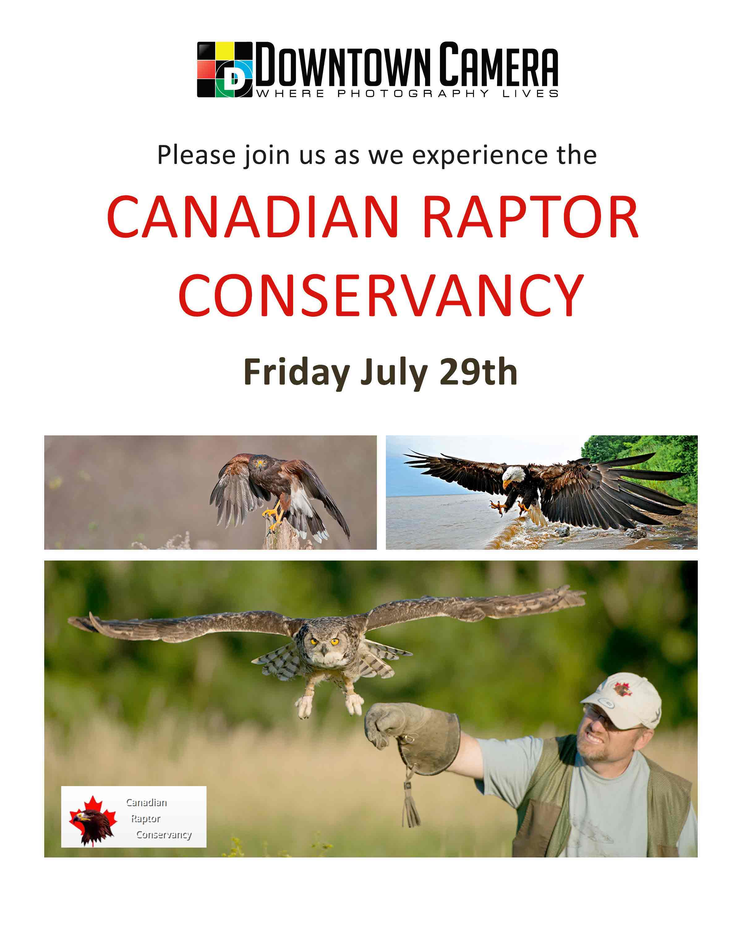 Canadian Raptor Conservancy Photography Trip