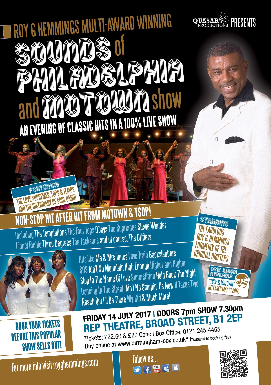 Roy G Hemmings Sounds of Philadelphia and Motown Show