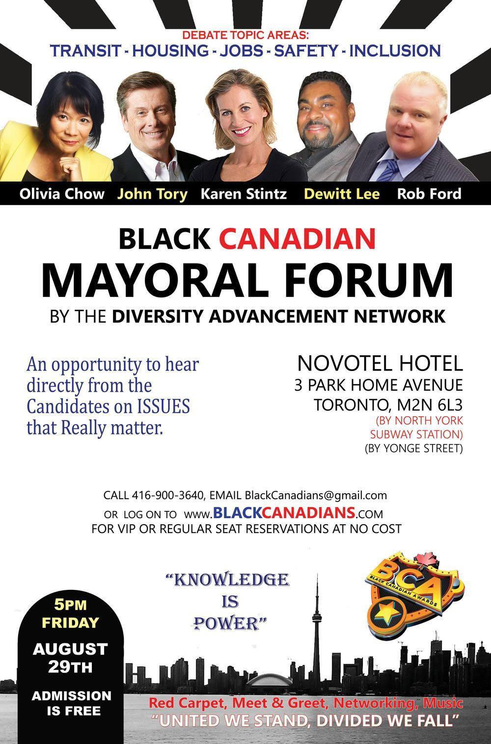 Black Canadian Mayoral Forum