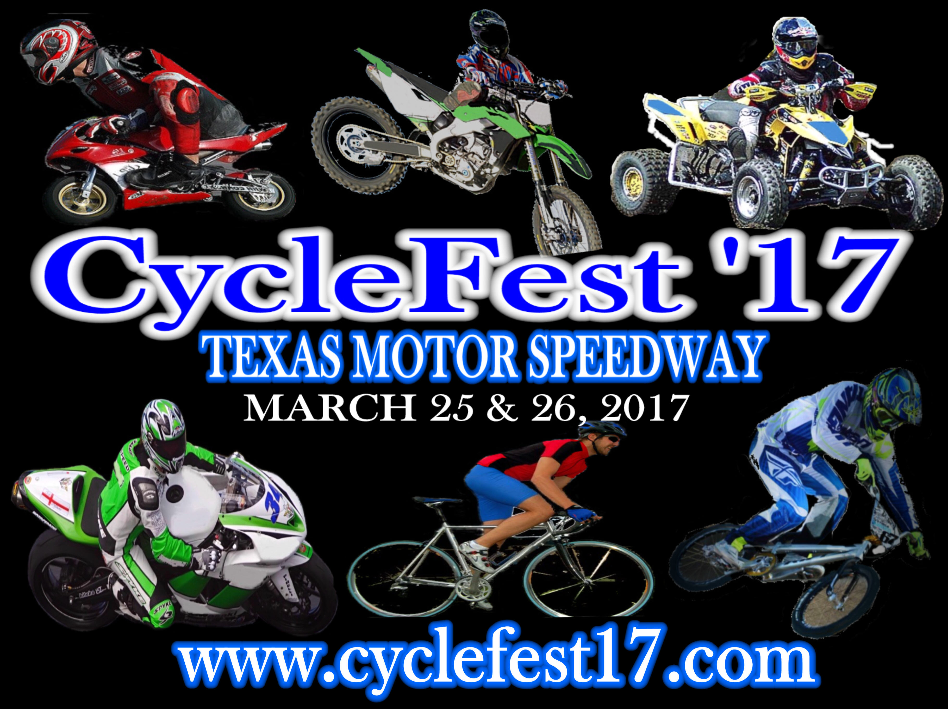 Cyclefest 39 17 texas motor speedway march 2017 events for Texas motor speedway events